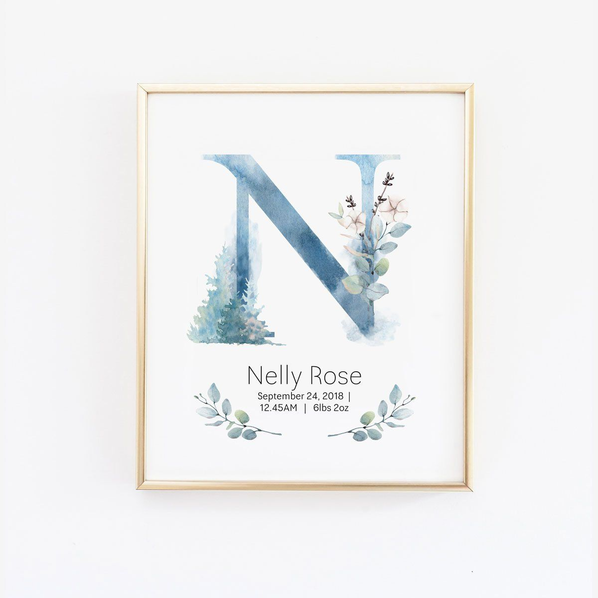 Personalized Name Poster For Nursery Baby Keepsake Nursery Etsy Name Wall Art Birth Announcement Wall Art Nursery Wall Art