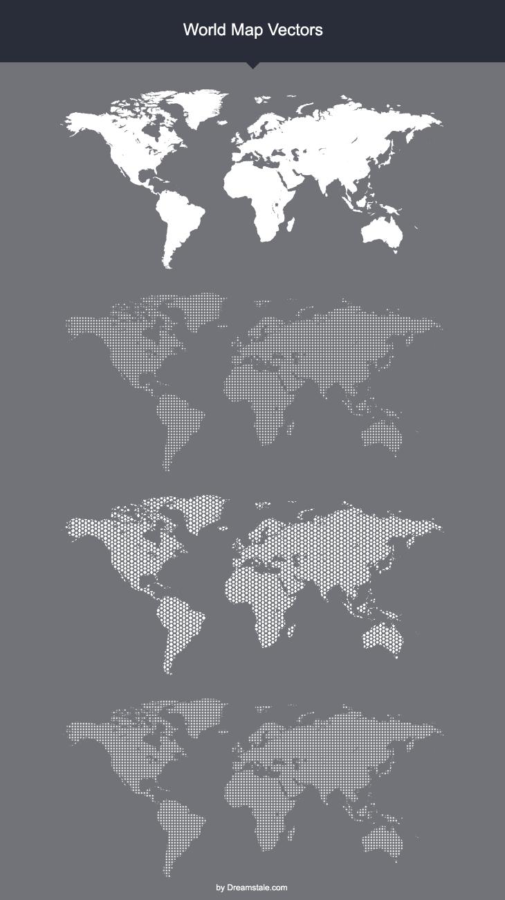 Free world map vector mock ups templates printweb design free world map vector mock ups templates gumiabroncs Choice Image