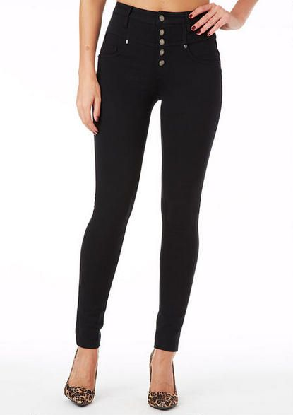Almost Famous High Waist Ponte Skinny