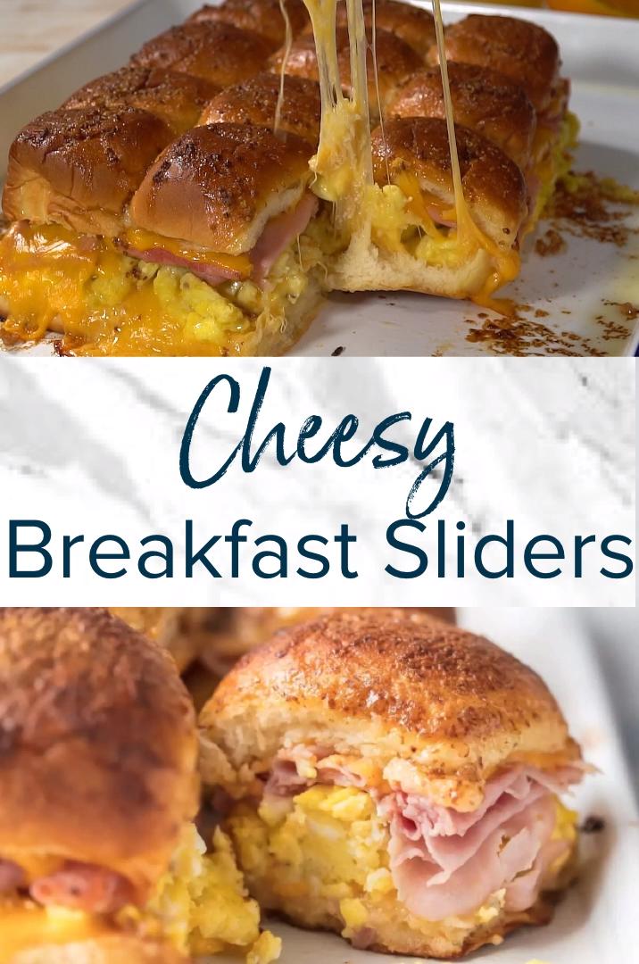 Photo of Cheesy Baked Breakfast Sliders