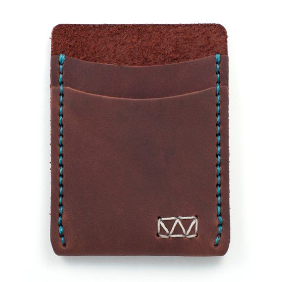Fly Fishing Wallet | Minimal Leather Wallet Made with Fly Fishing Line #leatherwallets