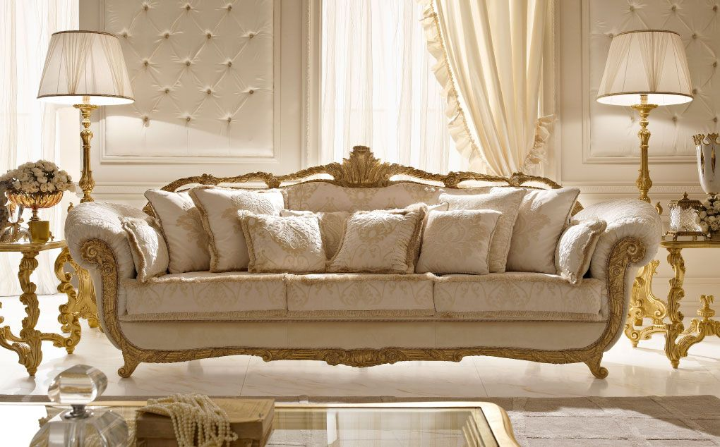 Italian classic luxury wooden living room furniture day for Exclusive living room furniture