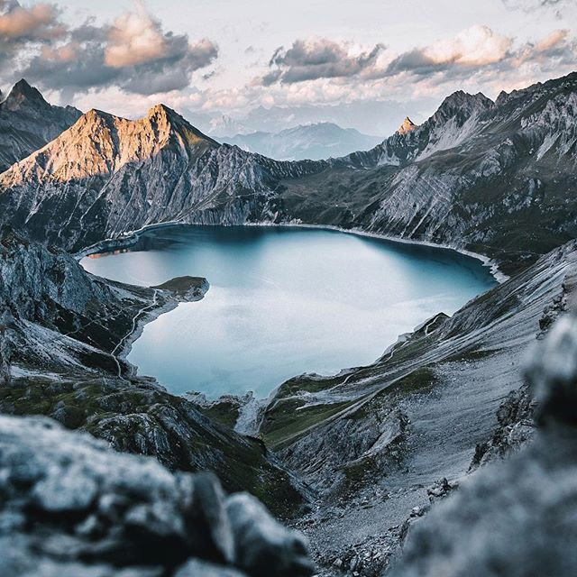 Insane shot by @jpkay 🏔 -- This lake kind of looks like a heart 💙 ⠀⠀⠀⠀⠀⠀⠀⠀⠀⠀⠀⠀⠀⠀⠀⠀ Tag #AllAboutAdventures for a chance to be featured!