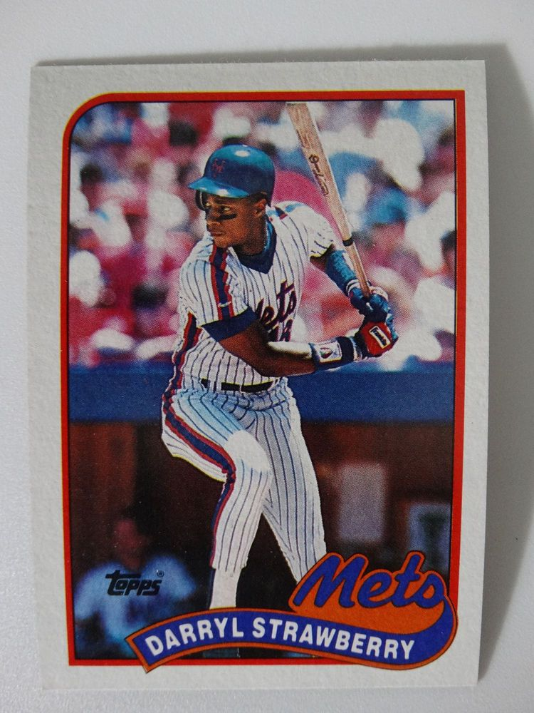 Details About 1989 Topps Darryl Strawberry New York Mets