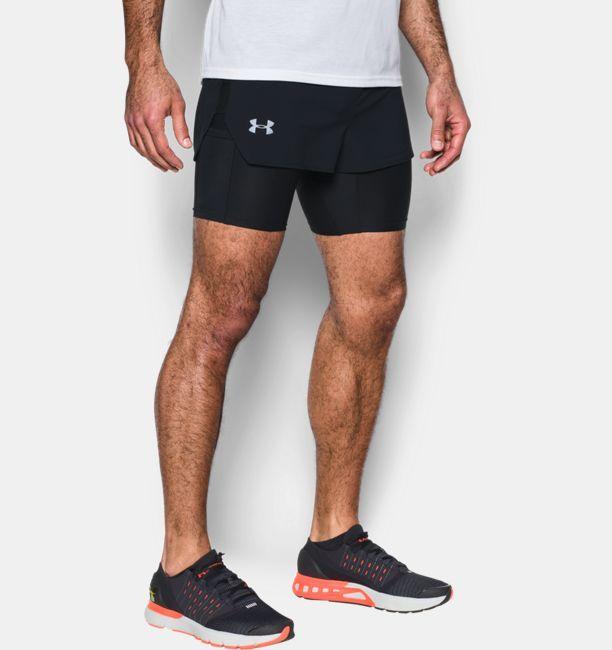 Nike Hommes 7 Tissé 2-en-1 En Cours D'exécution Short De Chemise De Compression Pour Les Cyclistes