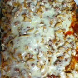 Pepperoni Pizza Casserole   - Food -