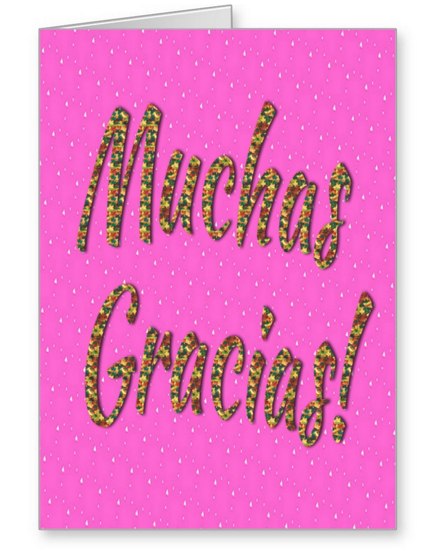 Muchas gracias greeting card in pink powerful words and gratitude thank you greeting cards two powerful words of appreciation in any language thank you gratitude can m4hsunfo