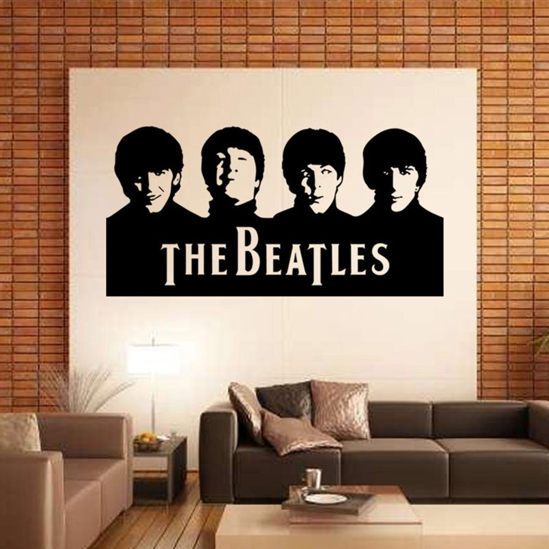 The beatles music band large wall sticker cabinet paster art home decor dining living room bedroom
