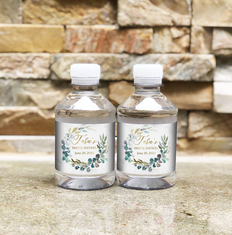 Personalized water labeleucalyptus water bottle Labelsshower sticker