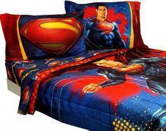 Superman Bedding Set Super Steel Comforter Sheets 91 00 Free