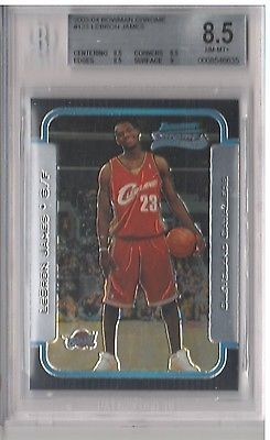 nice 2003-04 Bowman Chrome #123 - LEBRON JAMES RC - Beckett BGS 8.5 Cavs ROOKIE Card - For Sale View more at http://shipperscentral.com/wp/product/2003-04-bowman-chrome-123-lebron-james-rc-beckett-bgs-8-5-cavs-rookie-card-for-sale/