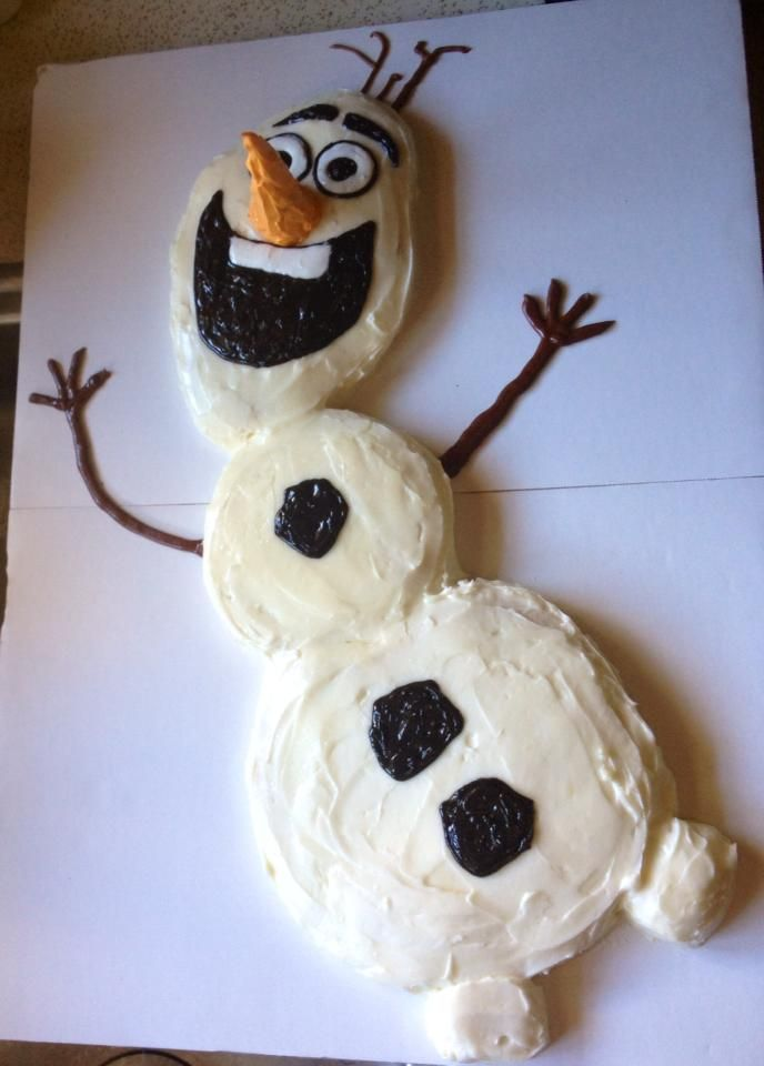 DIY Easy Olaf cake Frozen frozen olaf Celebrate good times come
