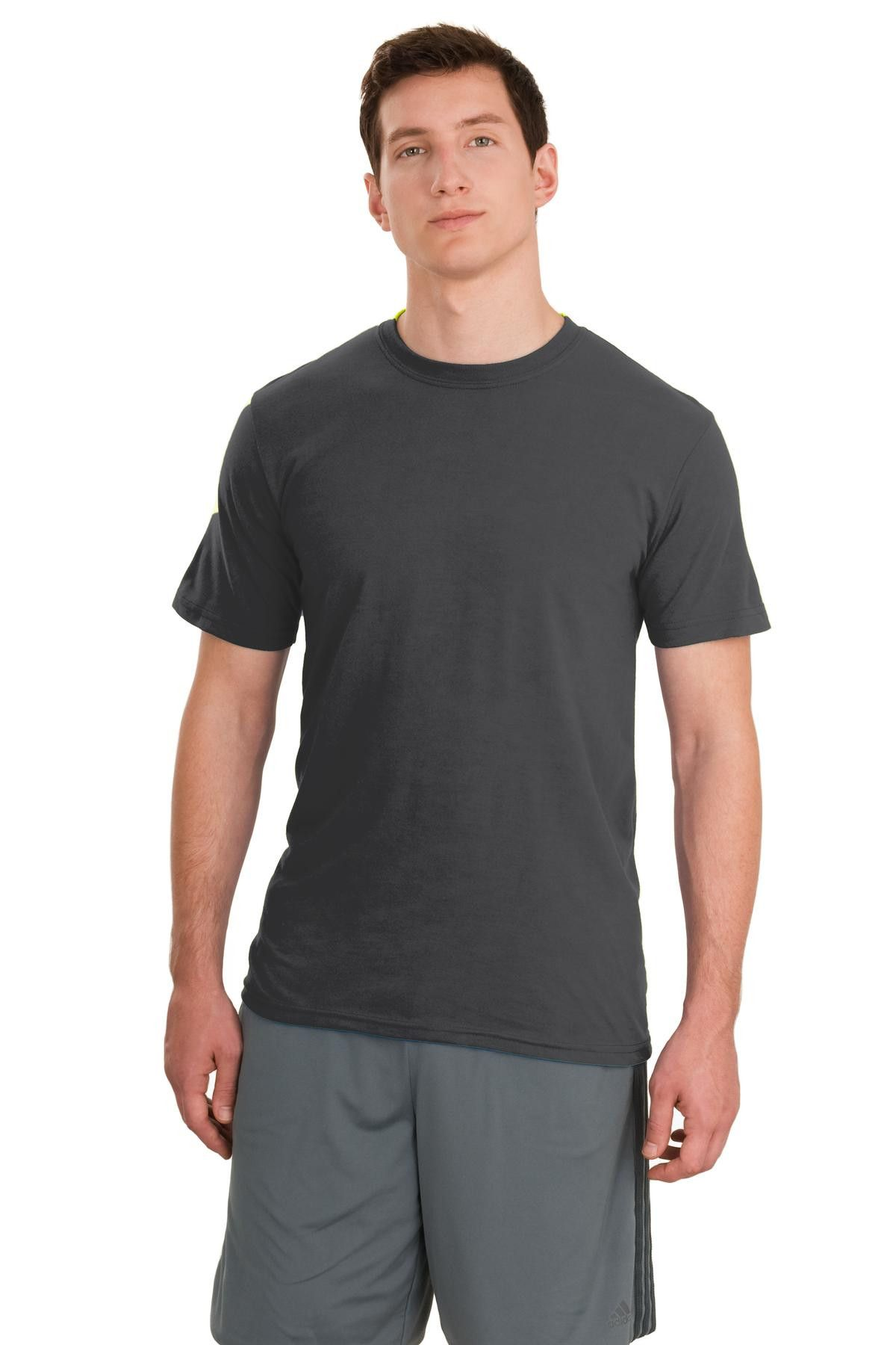 Jerzees Mens polyester sport t-shirt Charcoal Grey
