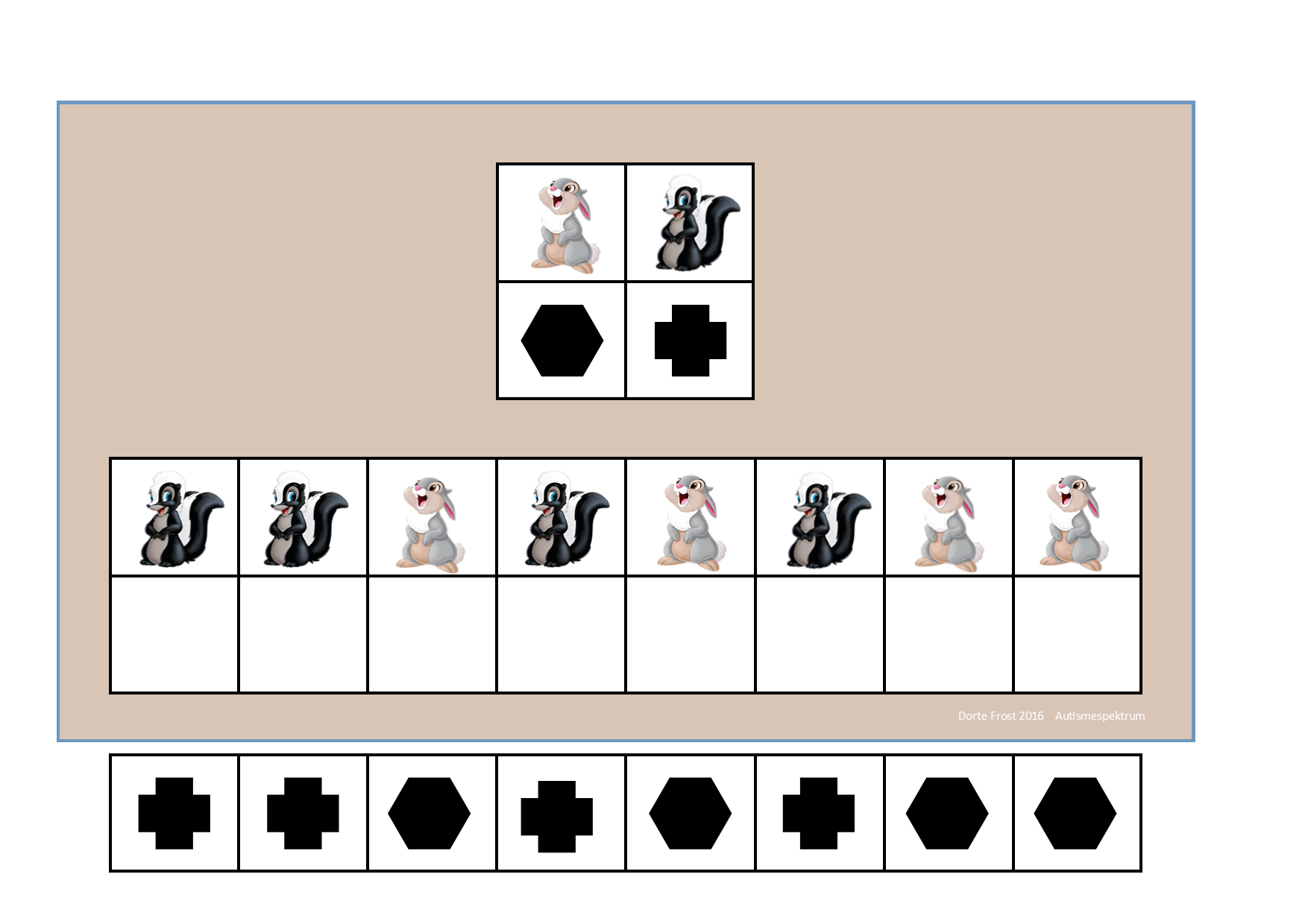 Board And Tiles For The Disney Visual Perception Game 2