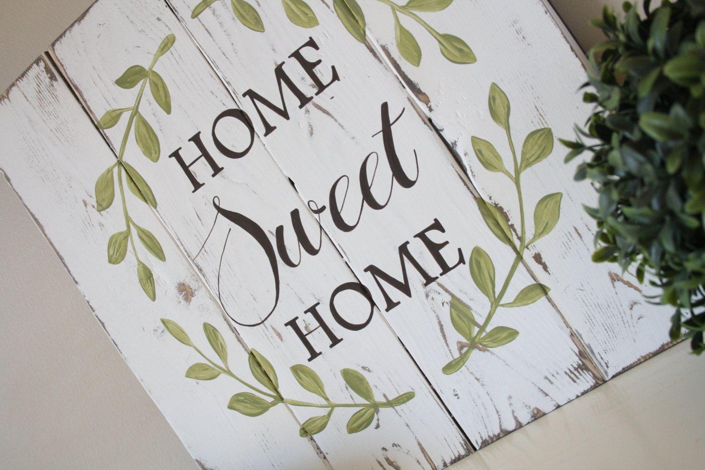 Muestra de madera reciclada  hogar dulce hogar signo