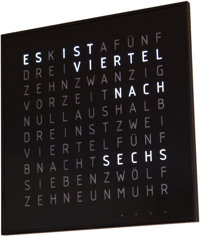 Wörter-Funkuhr 3   SpaceFlakes.de   Electronic   Funkuhren ...
