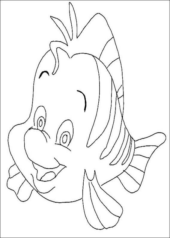 Little Mermaid fish coloring page | Printables :) | Pinterest | Pez ...