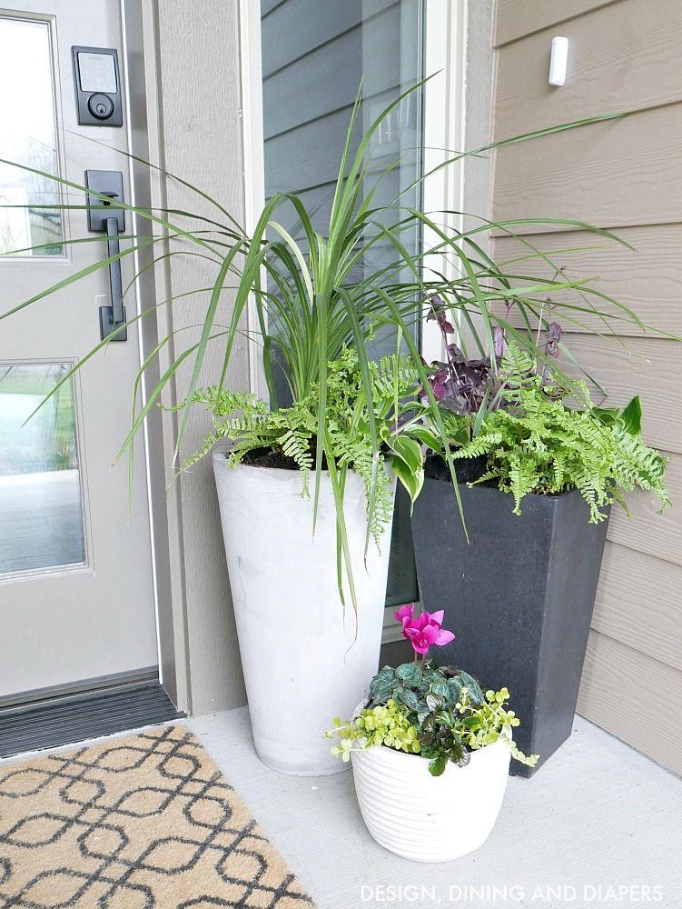 Front Porch Planter Ideas Get Your Porch Ready For Spring Diy Front Porch Front Porch Planters Front Porch Decorating