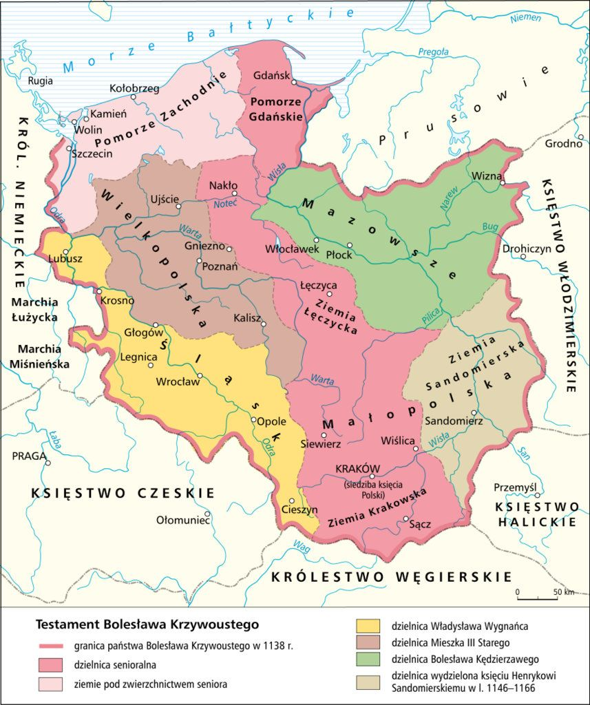 Poland 1138 1166 Testament Of Boleslaw Ds Mil Frankreich Karte
