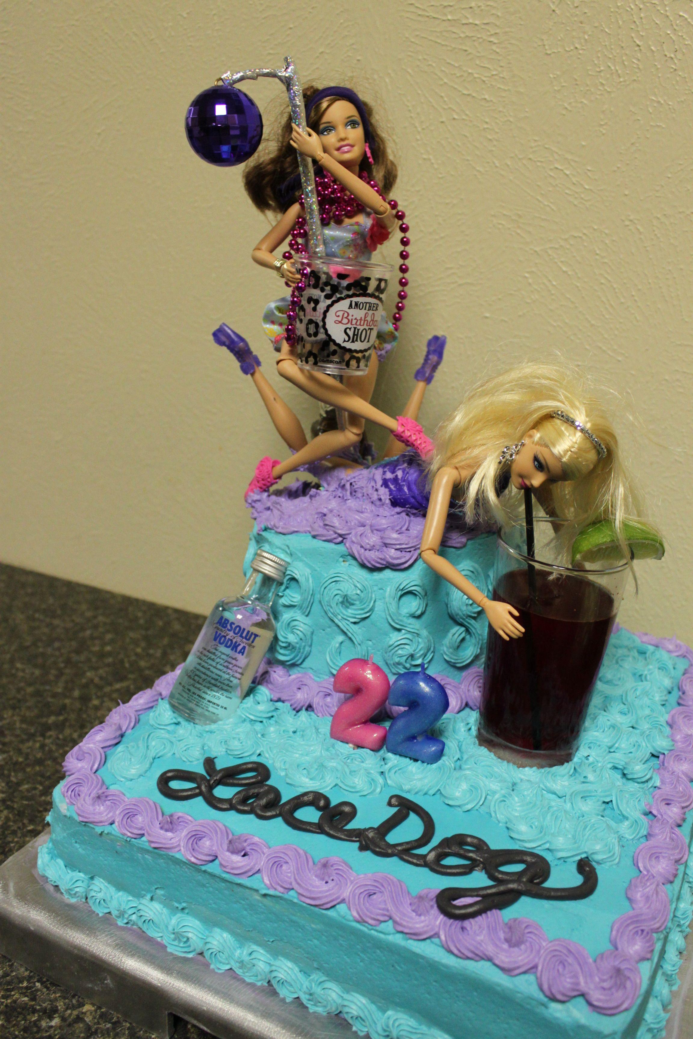 Crazy Night Out Barbie Birthday Cake Pattie Cakes