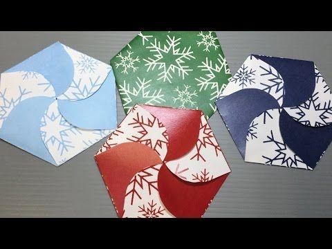 Origami Snowflake Petal Fold Case Print Your Own - YouTube