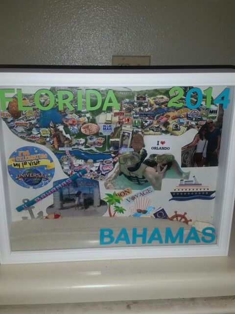 Love our vacation shadow box that we made! #diyproject