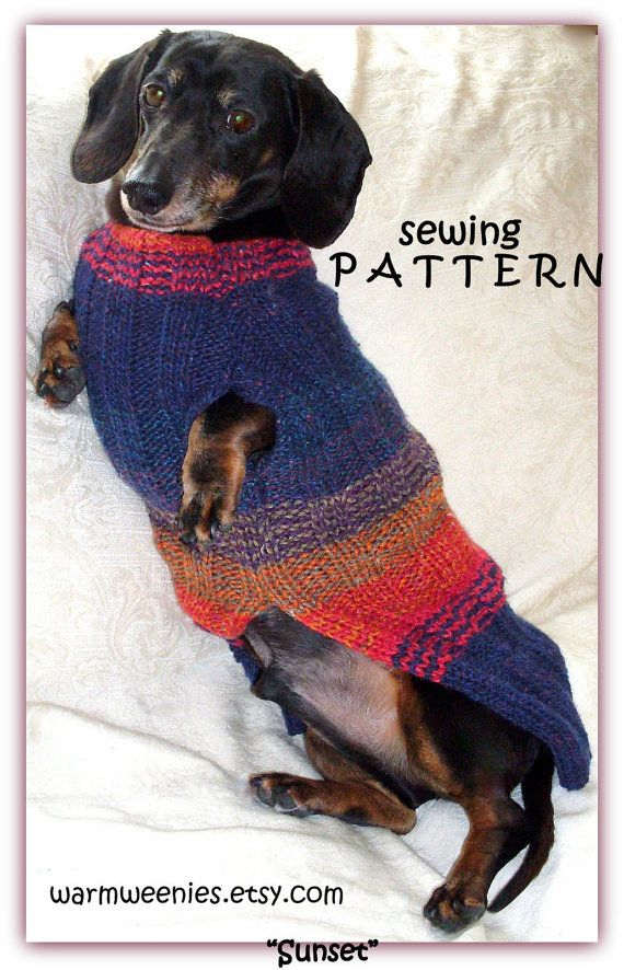 Diy Sewing Pattern Dachshund Sweater Snood By Warmweenies Wiener