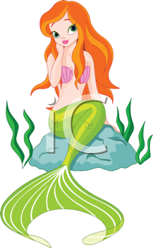 royalty free clipart image of a mermaid sitting on a rock fantasy rh pinterest co uk clip art mermaids free clipart mermaid free