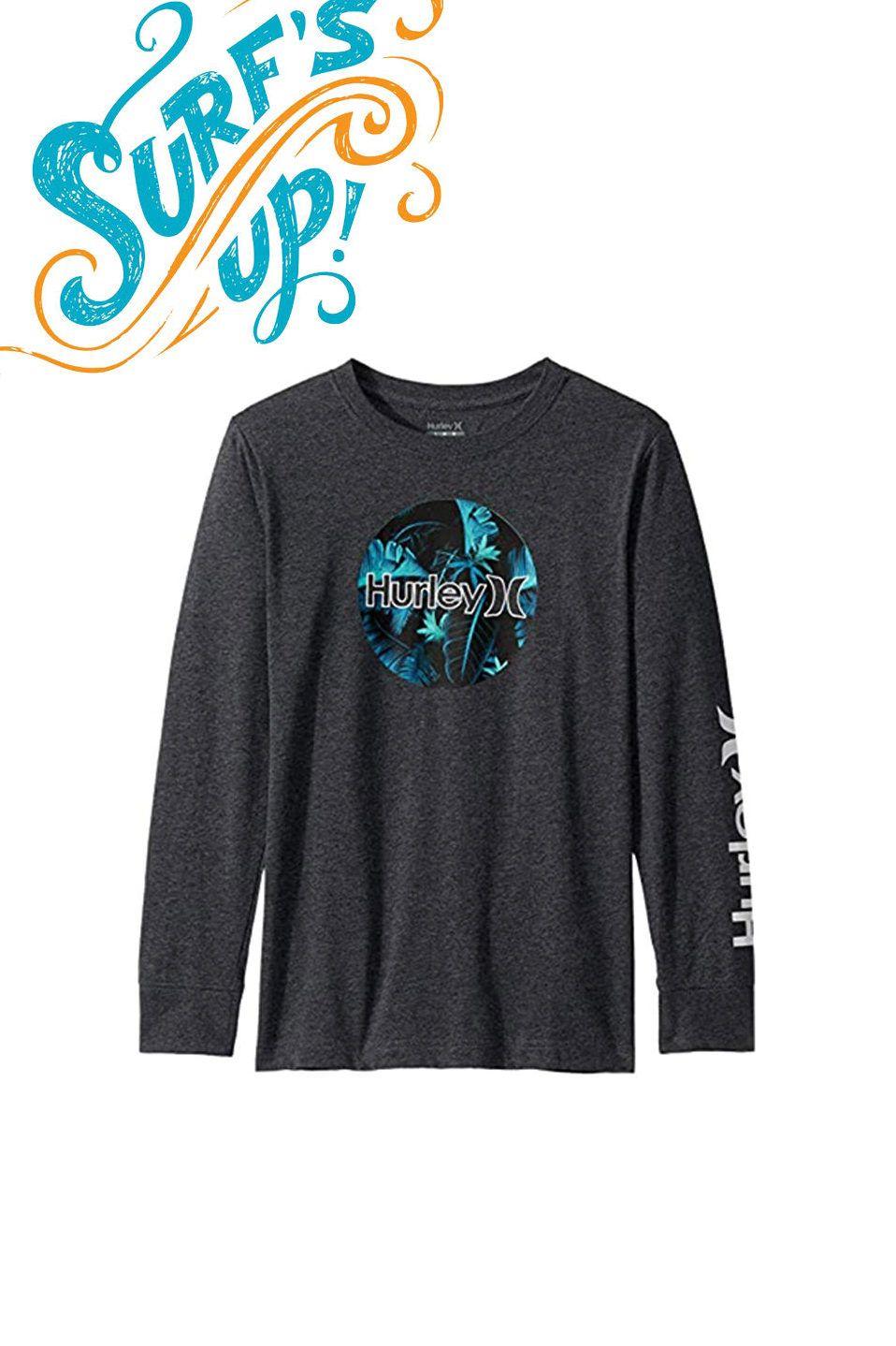 Boy/'s Youth Hurley Long Sleeve Cotton T-Shirt