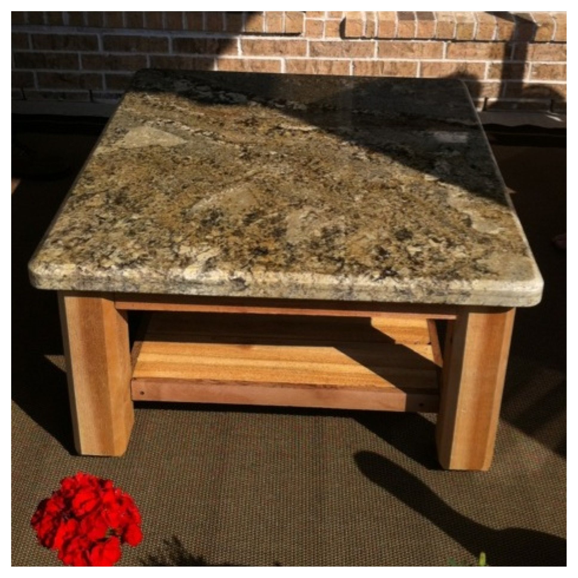 Custom Outdoor Patio Table With Granite Top Delivered To