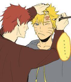 Best friends Gaara and Naruto | Naruto | Gaara, Naruto