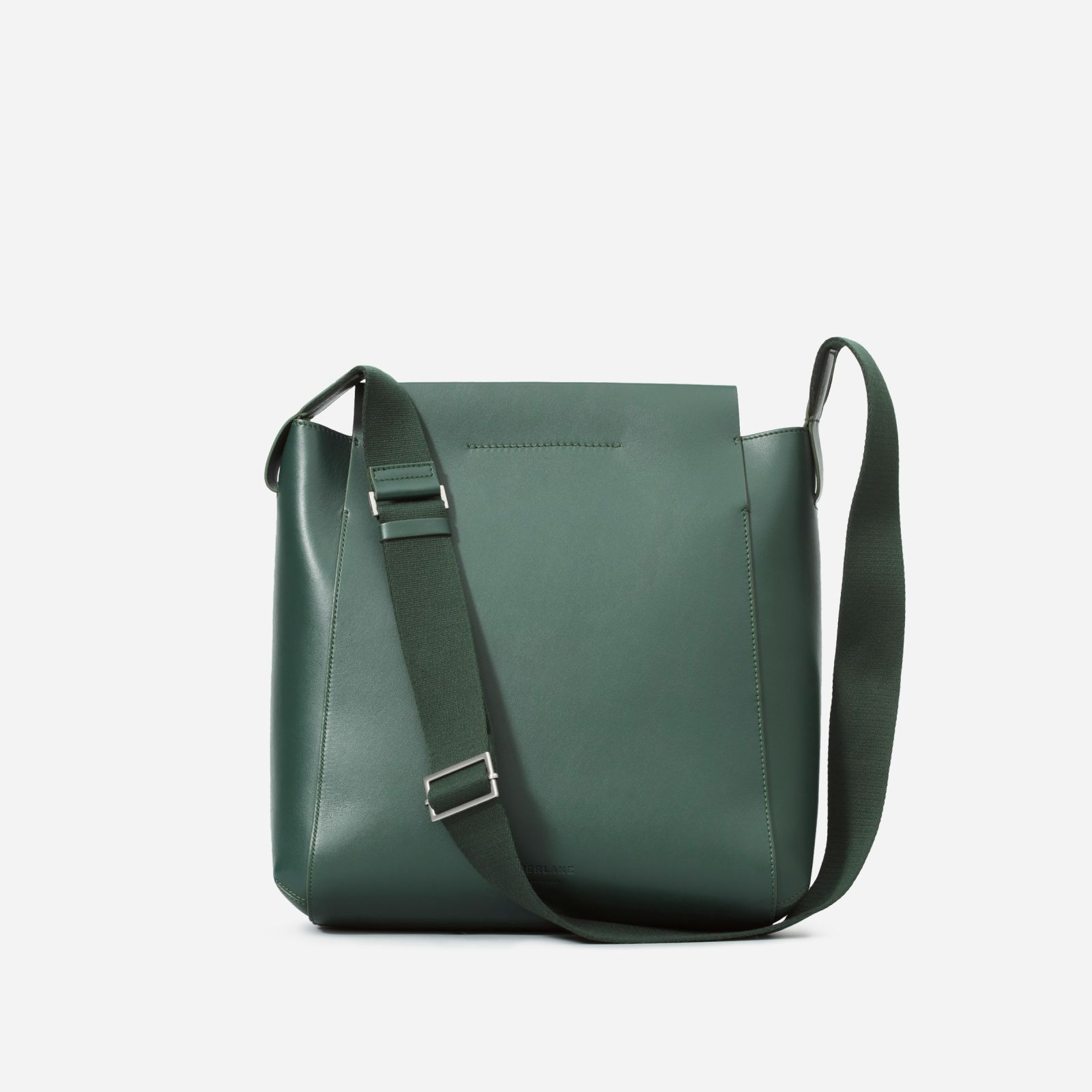 5da073c3b Women's Leather Messenger Bag by Everlane in Dark Green   Products ...