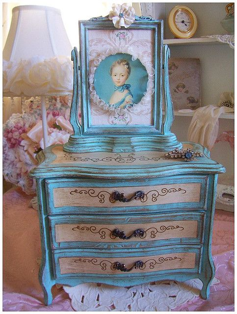 Marie Antoinette JEWELRY BOX Box Shabby and Jewelry storage