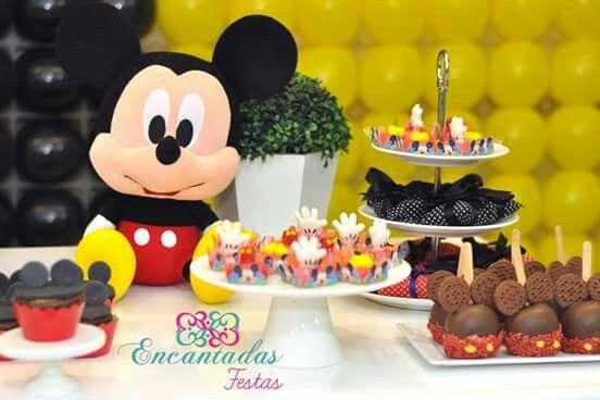 Decoração mesa Mickey!  #mickey #festamickey #partymickey #encantadasfestas