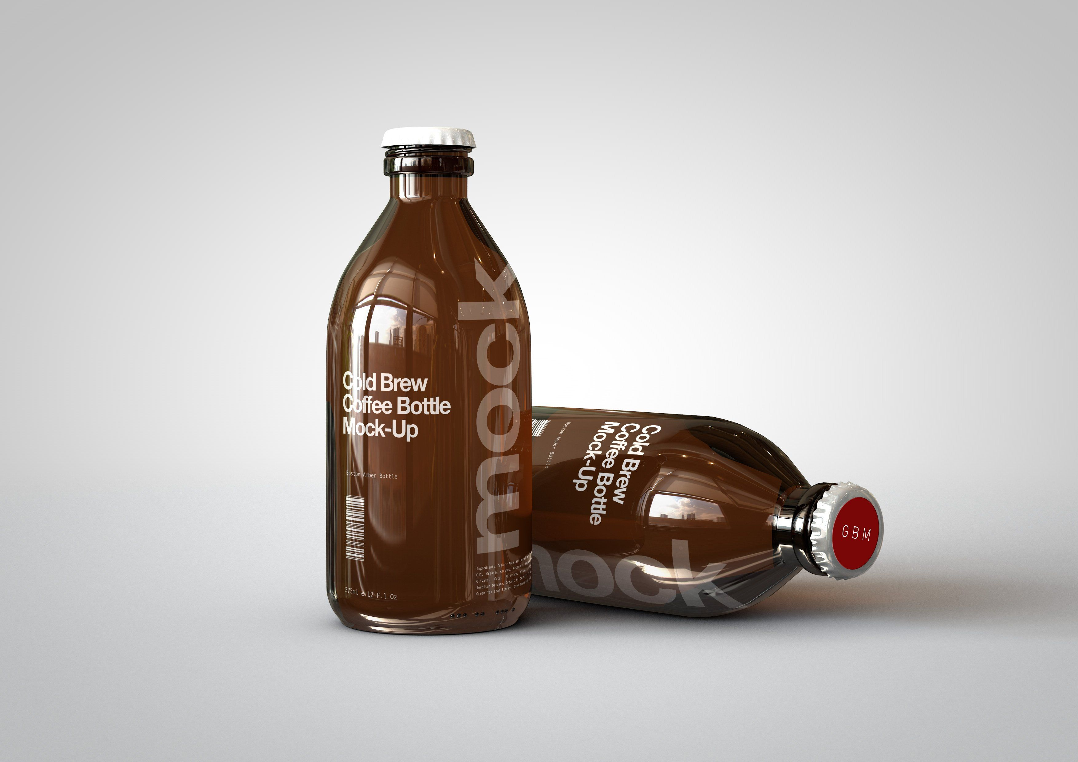Cold Brew Coffee Bottle MockUp Ad , spon, LayerSmart