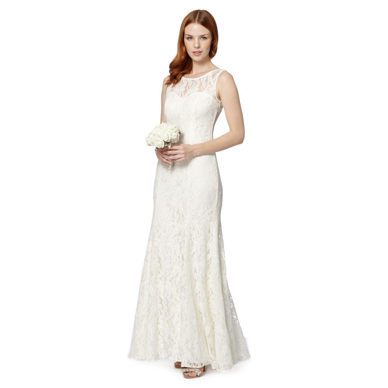 Debut Ivory lace wedding dress- at Debenhams.com Nice shape, bit ...