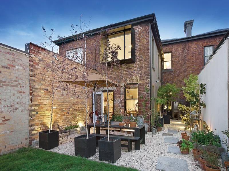 Modelo de fachadas para casas casa del nogal pinterest for Patios exteriores de casas