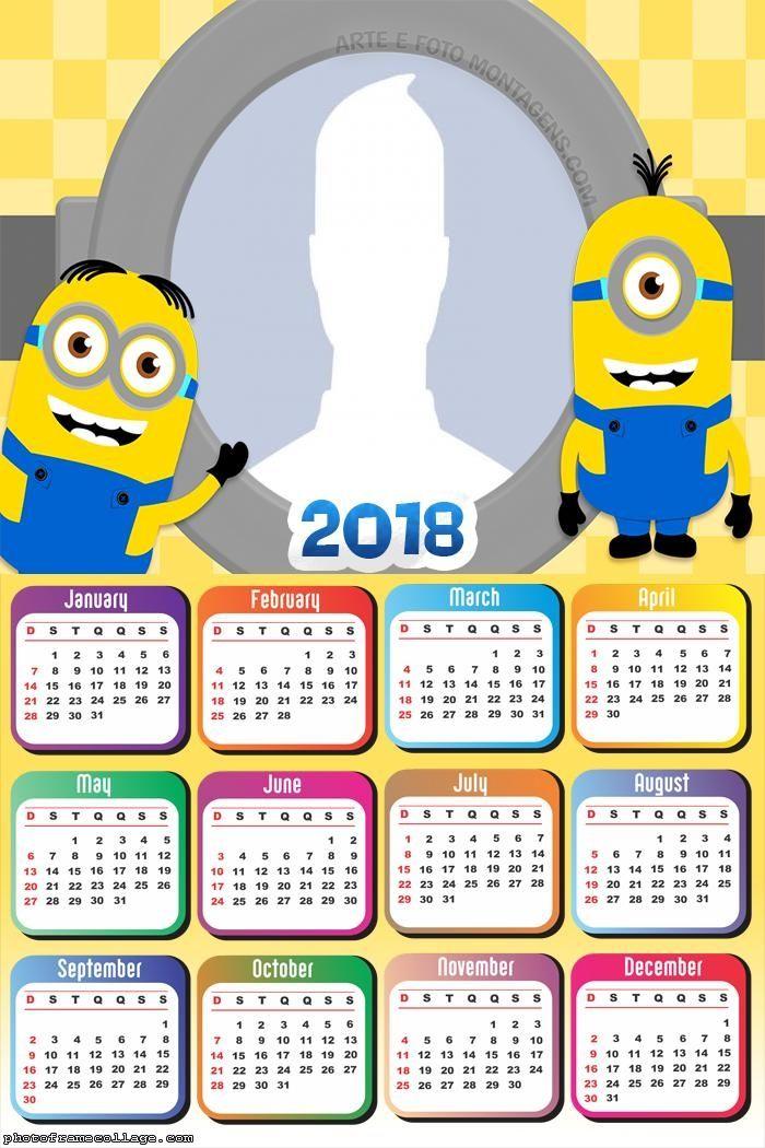 Calendar 2018 Minions   Frame PNG   Pinterest   Calendar 2018