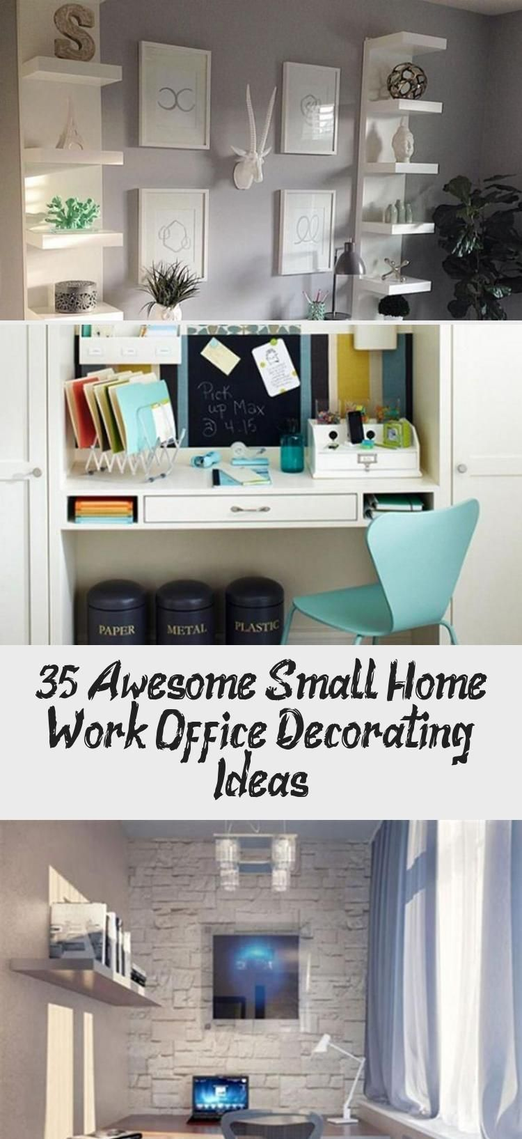 35 Awesome Small Home Work Office Decorating Ideas Awesome