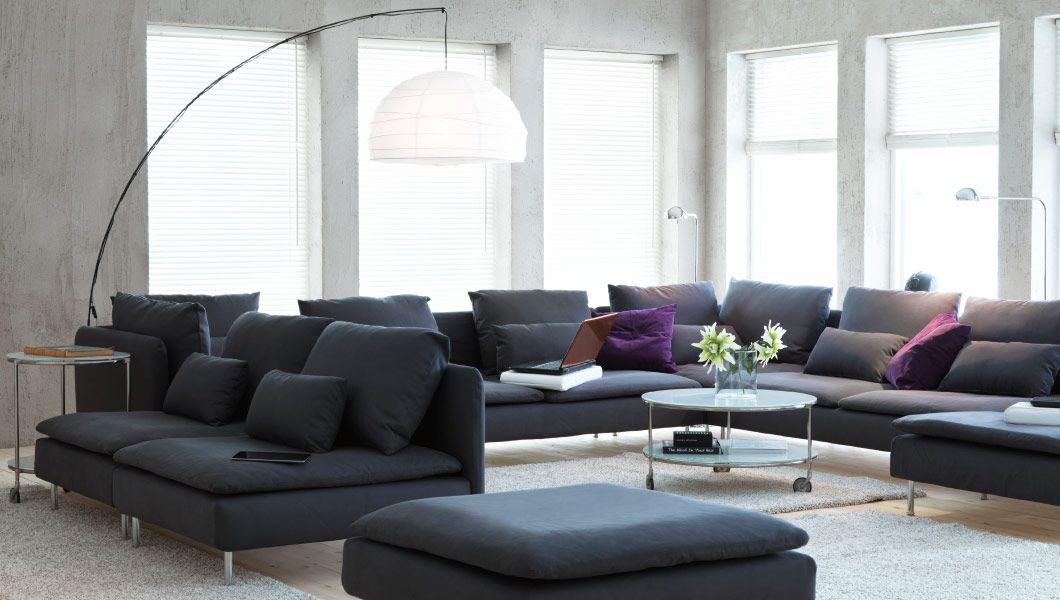 ikea Österreich, großes wohnzimmer mit sÖderhamn polstergruppe und ...