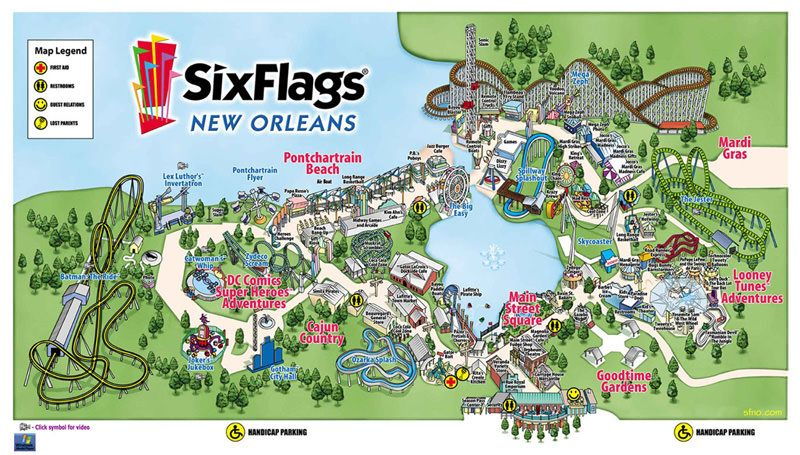 six flags new orleans map Six Flags New Orleans Located In New Orleans La Six Flags New six flags new orleans map