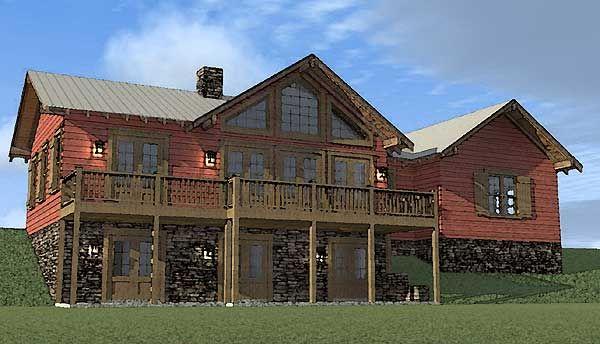 Plan 44002td Liberty Cabin Basement House Plans Rustic