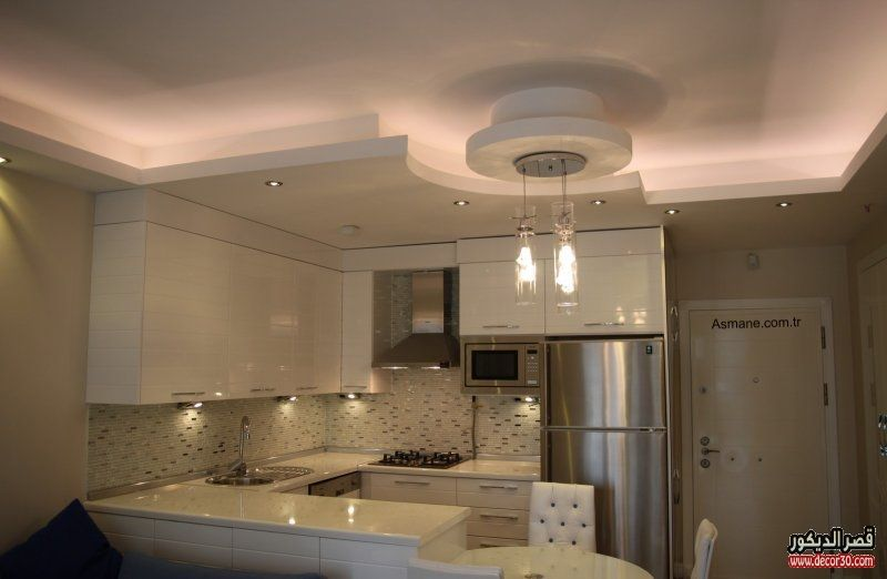 اشكال اسقف جبس بورد غرف وصالات وريسبشن متنوعة قصر الديكور In 2020 My Home Design Kitchen Dining Room False Ceiling Design