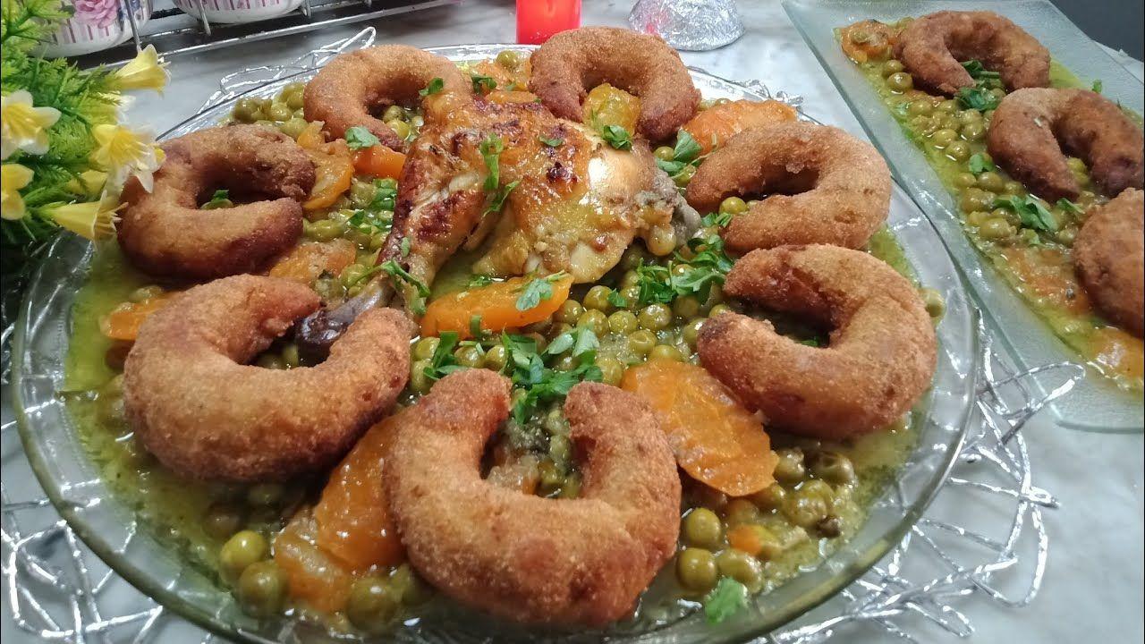 اطباق رمضان 2020 طاجين لهليلات الشراك بالدجاج والجلبانة شكل وبنة روعة Food Chicken Meat