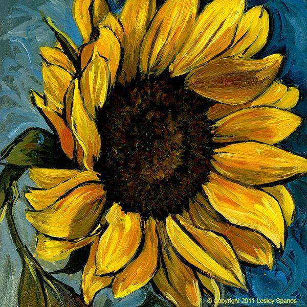 Sunflower 2 Spanos 600 Sunflower Painting Sunflower