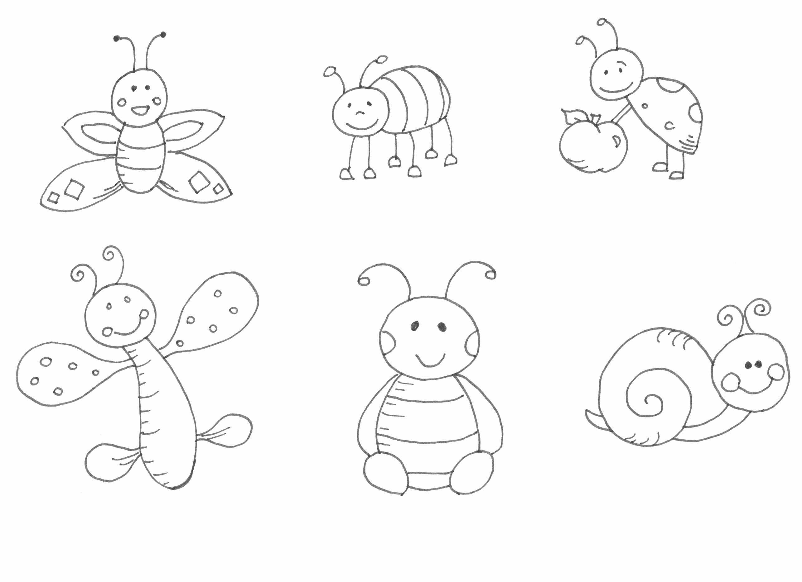 bogarak rajz, drawing bugs, coloring page, színező