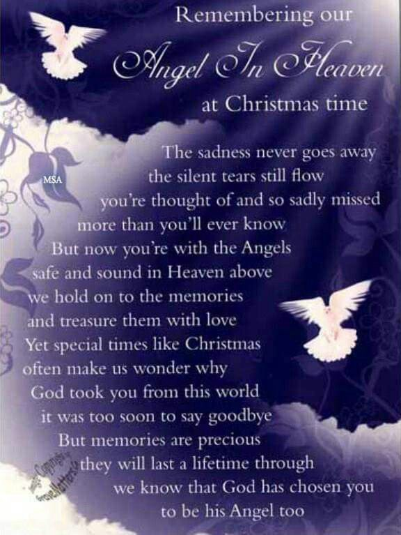 Angel In Heaven At Christmas Time Dad Heaven Quotes Angels In