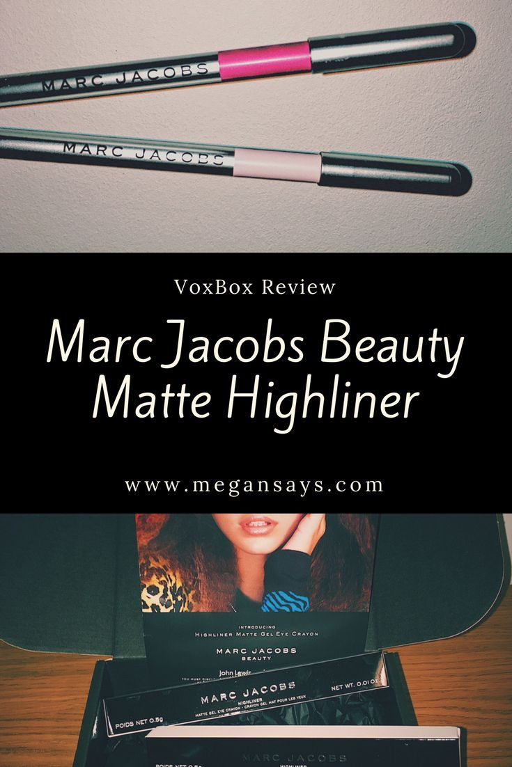 Marc Jacobs Beauty Matte Highliner Vox Box Review
