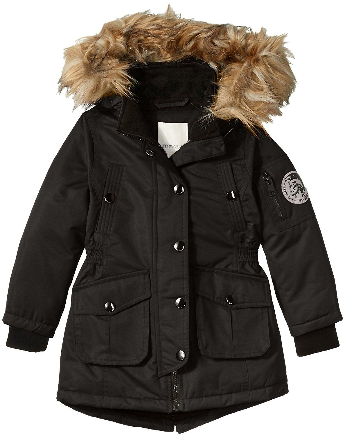520af4dae4d4 Amazon.com  Diesel Girls  Hooded Parka  Clothing