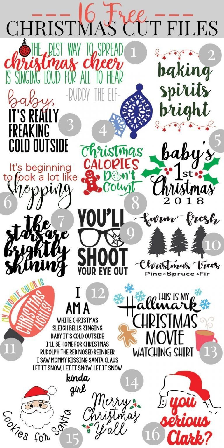 16 Free Christmas SVG Files + Cricut EasyPress 2 Review